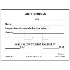 257 - Early Dismissal